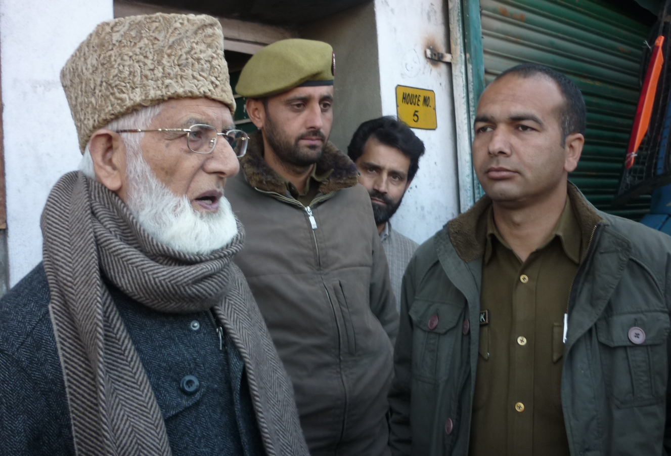 Chairman All Parties Hurriyat Conference Continues to be under illegal detention of occupational force , The ailing and aged Leader is not allowed to perform his religious duties. he was shifted to Humhama police station.